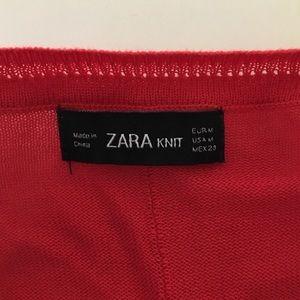 Zara Sweaters - Zara Knit Lightweight Red Thin Sweater M Slits